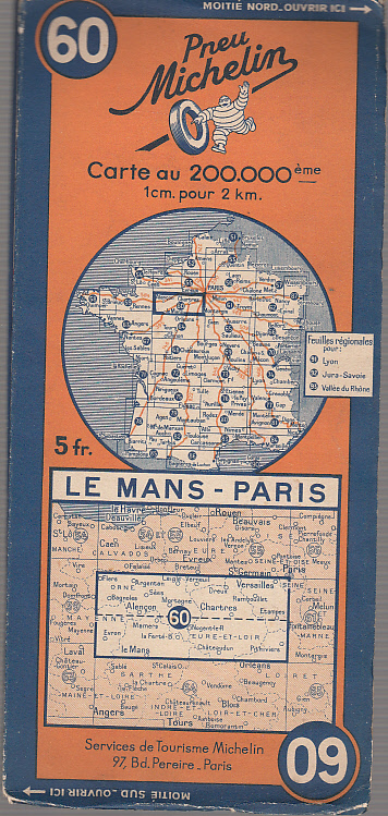 Le Mans - Paris (mapa Michelin)