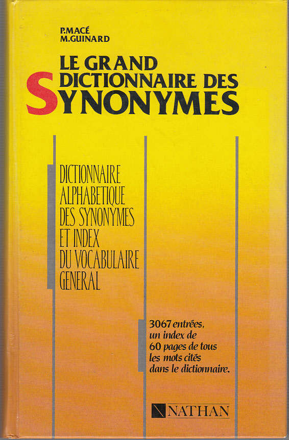 Le grand Dictionnaire des Synonymes